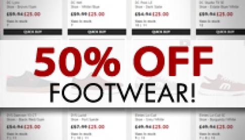50% Off Footwear