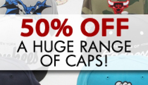 50% Off A Massive Range of Caps!