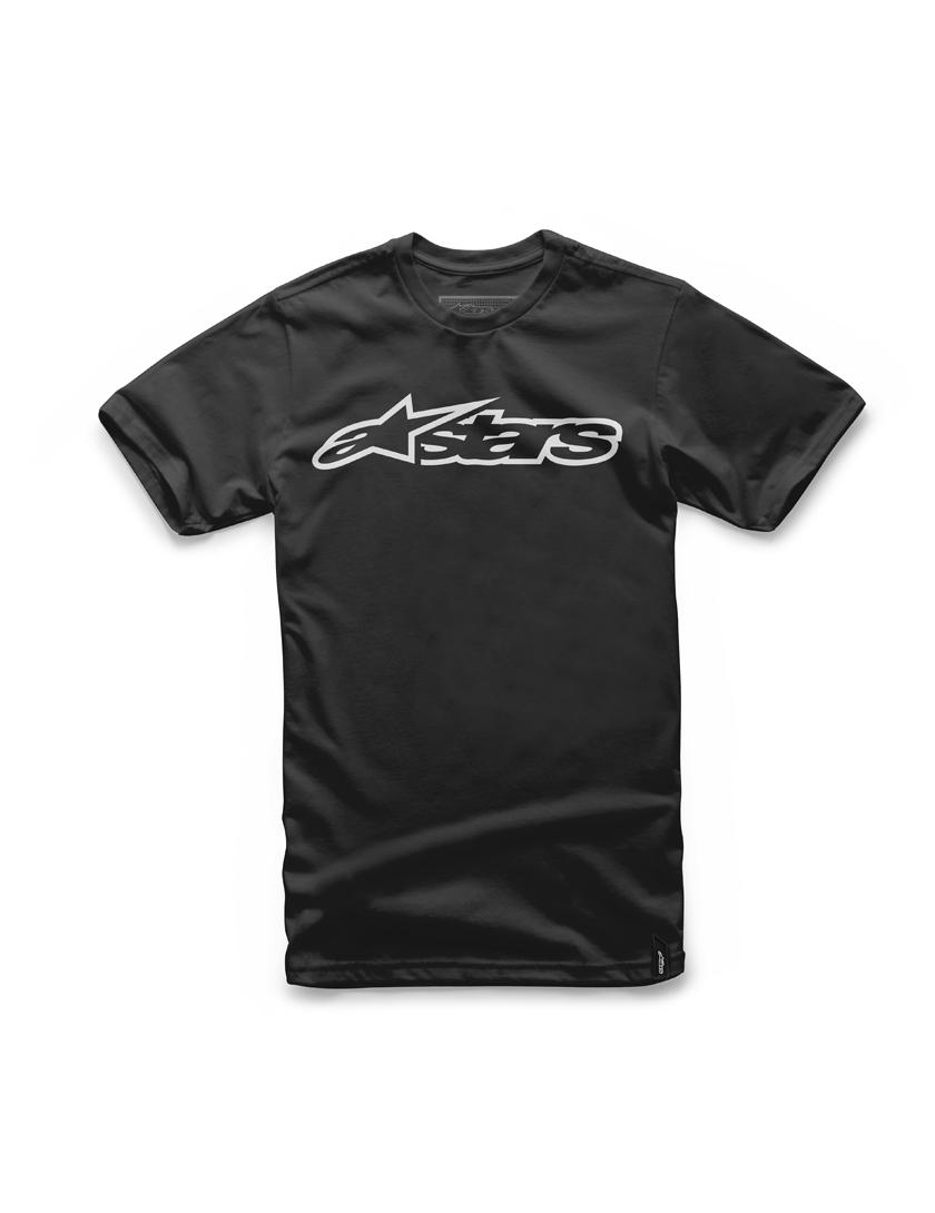 Alpinestars Blaze Short Sleeve T-Shirt in Black/White   surfstreetshop.com