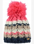 Barts Feather Bobble Hat in Navy