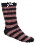 Animal Velvet Adella Crew Socks in Dark Navy
