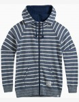 Animal Zipped Up Zipped Hoody in Dark Navy
