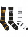 Billabong Title 3 Pack Crew Socks in Assorted