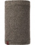 Buff Lyne Knitted Neck Warmer in Brown Taupe