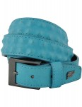 Lowlife Cover Up Slim Leather Belt in Royal Blue