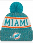 New Era Miami Dolphins Bobble Hat in Blue