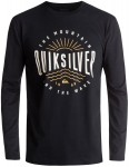 Quiksilver Mad Wave Classic Long Sleeve T-Shirt in Black