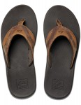 Reef Leather Fanning Leather Sandals in Bronze