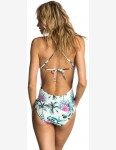 Rip Curl Palms Away One Piece Swimsuit in Green