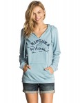 Rip Curl Salty Waves Pullover Hoody in Niagara Blue