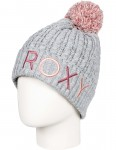 Roxy Fjord Bobble Hat in Warm Heather Grey