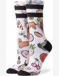 Stance Thoughts Crew Socks in Cream