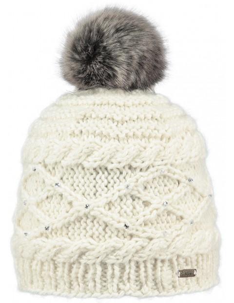Barts Claire Bobble Hat in Cream