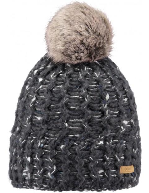 Barts Euny Bobble Hat in Dark Heather