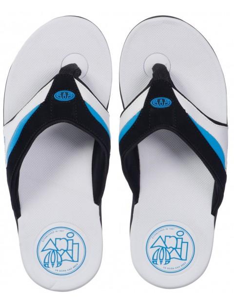 Animal Fader Flip Flops in White