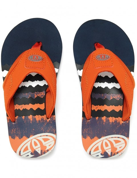 Animal Junior Boys Jekyl Logo Flip Flops Seaport Blue FM9SQ600