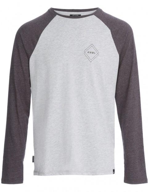 Animal Mono Long Sleeve T-Shirt in Grey Marl