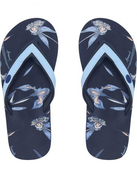 f5ecfbfcab3b4a Animal Swish Slim AOP Flip Flops in Vintage Indigo Blue