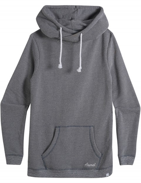 Animal Whirlpool Pullover Hoody in Grisaille Blue