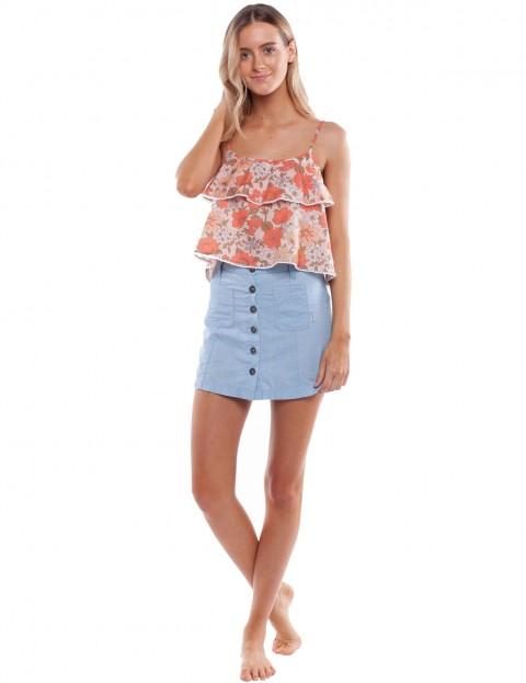Rhythm Blossom Sleeveless T-Shirt in Blush