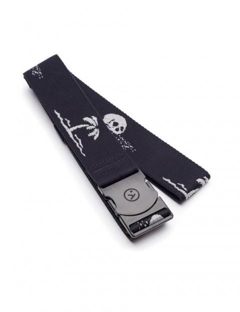 Arcade Strand Webbing Belt in Black/Grey