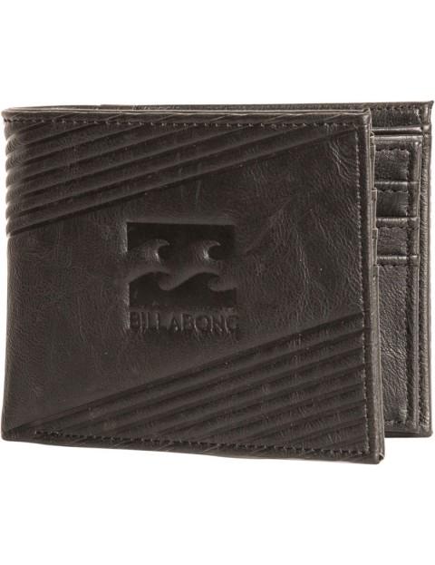 Billabong Junction Faux Leather Wallet in Black