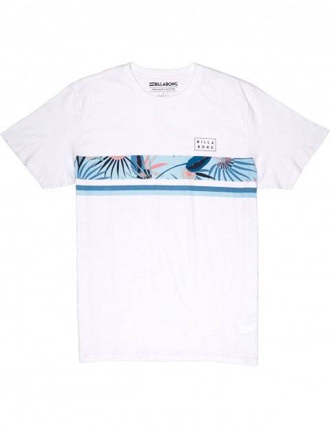 billabong tshirt  Billabong Team Stripe Short Sleeve T-Shirt in White