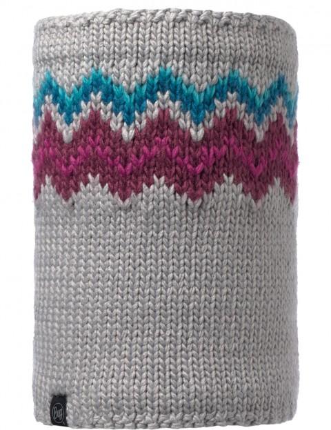 Buff Danke Knitted Neck Warmer in Light Grey