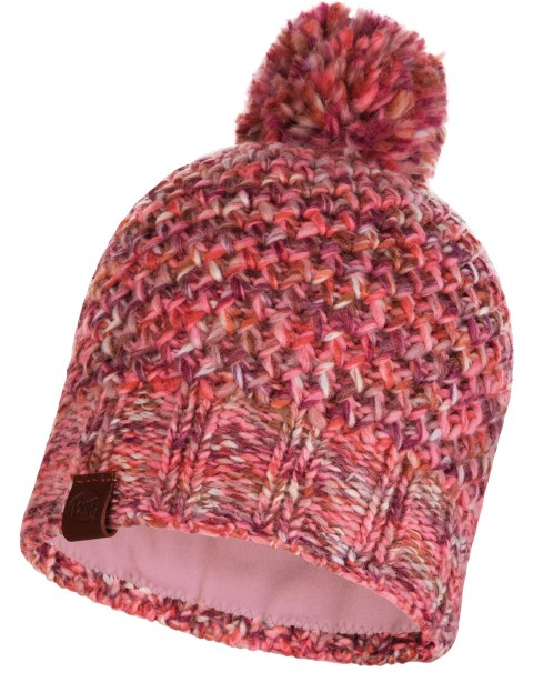 Buff Margo Knitted Bobble Hat in Flamingo Pink