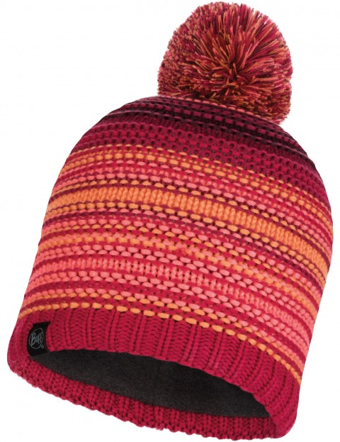 Buff Neper Knitted Bobble Hat in Bright Pink 6ba9a8b4fb8