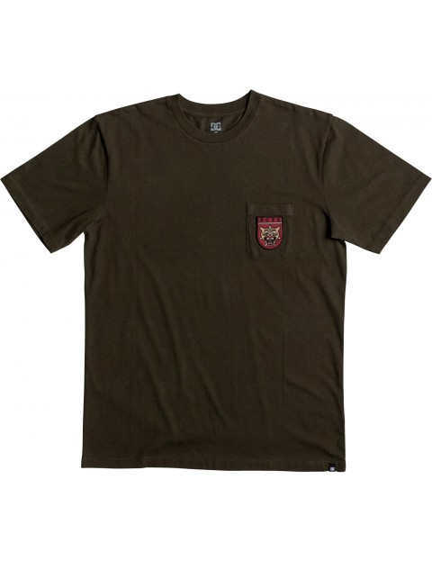 DC Barkly Pocket Short Sleeve T-Shirt in Dark Olive