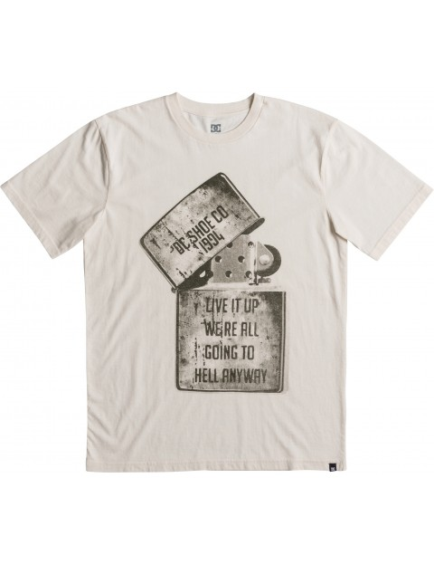 DC Dead Above Short Sleeve T-Shirt in Antique White