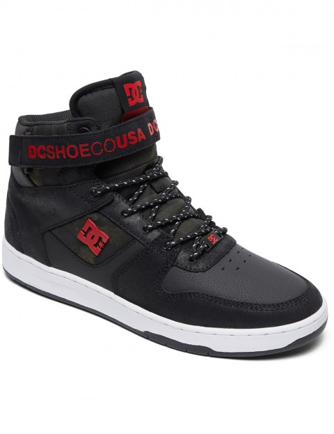 DC Pensford SE Trainers in Black/White/Red