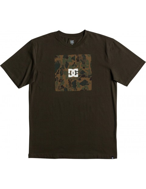 DC Square Boxing Short Sleeve T-Shirt in Dark Olive