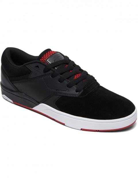 DC Tiago S Trainers in Black/Atl Red/Black