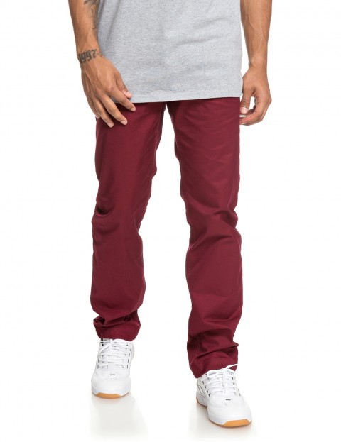 9a9b49372 DC Worker Straight Chino Trousers in Cabernet | hardcloud.com