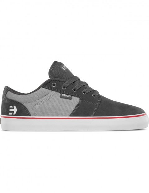 Etnies Barge LS Trainers in Dark Grey / Grey / Red