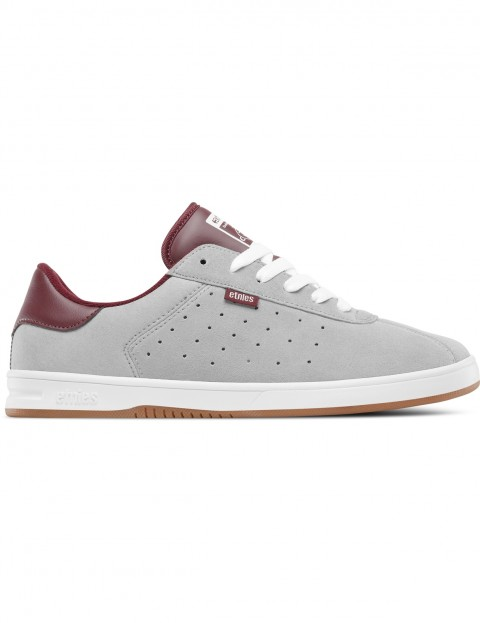 Etnies The Scam Trainers in Grey / Burgundy