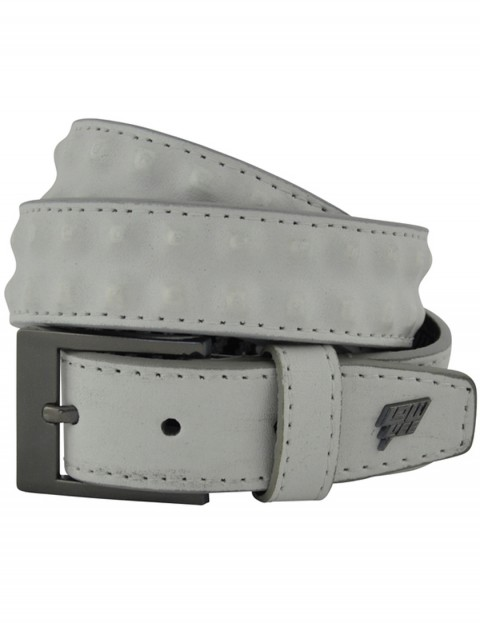 Lowlife Cover Up Slim Leather Belt in White