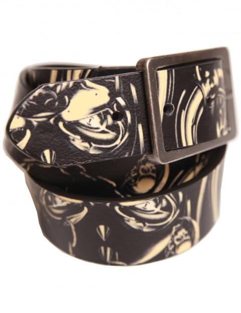 Lowlife Motorhead Warpig Leather Belt in Black