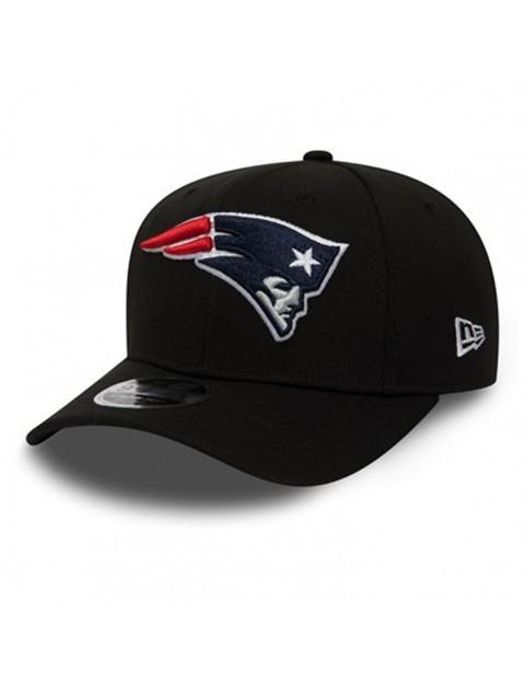 New Era New England Patriots Stretch Snap 9Fifty Cap in Black