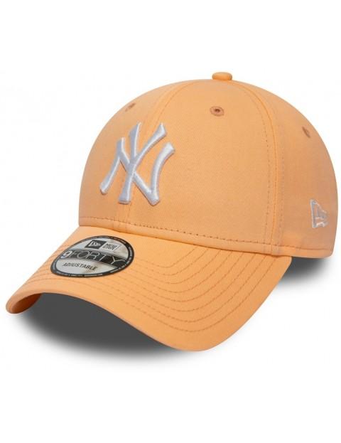 923bca3a New Era New York Yankees MLB League Essential 9Forty Cap in Posh Peach  Optic White