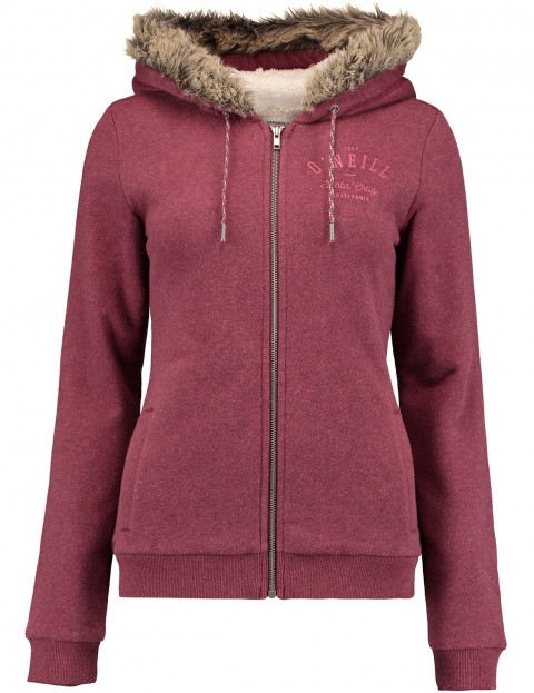 ONeill San Fran Superfleece Sherpa Hoody in Current Red