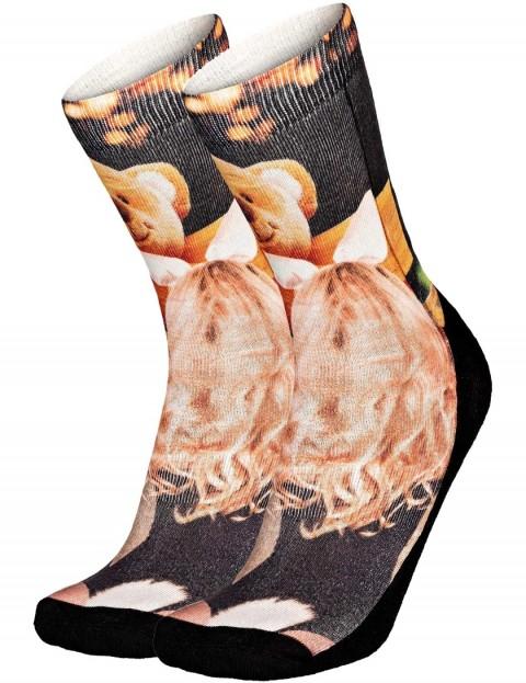 Pullin So-Long Teddy Crew Socks in Multi