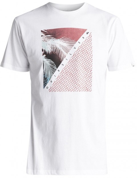 Quiksilver Coast Lines Classic Short Sleeve T-Shirt in White