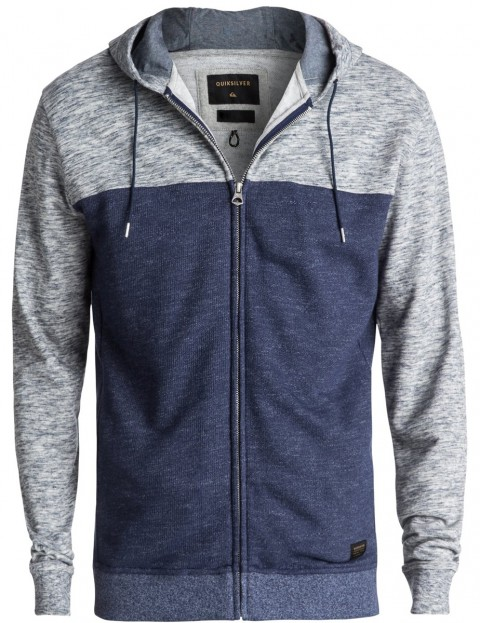 Quiksilver Crystal Cave Zipped Hoody in Medieval Blue