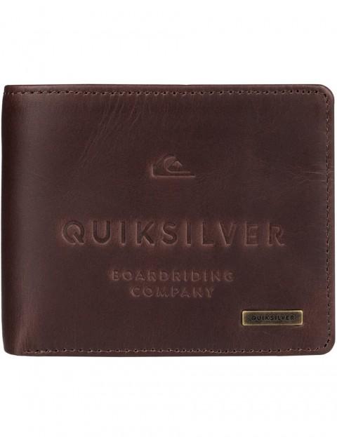 32f3c53c2 Quiksilver Mack III Leather Wallet in Chocolate   hardcloud.com