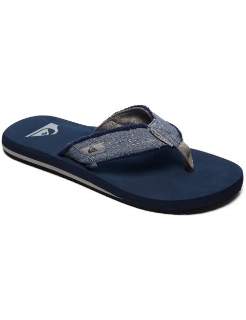 Quiksilver Monkey Abyss Canvas Sandals in Grey/Blue/Grey