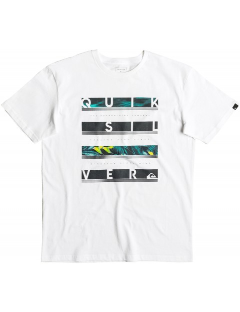 Quiksilver Read Between Short Sleeve T-Shirt in White
