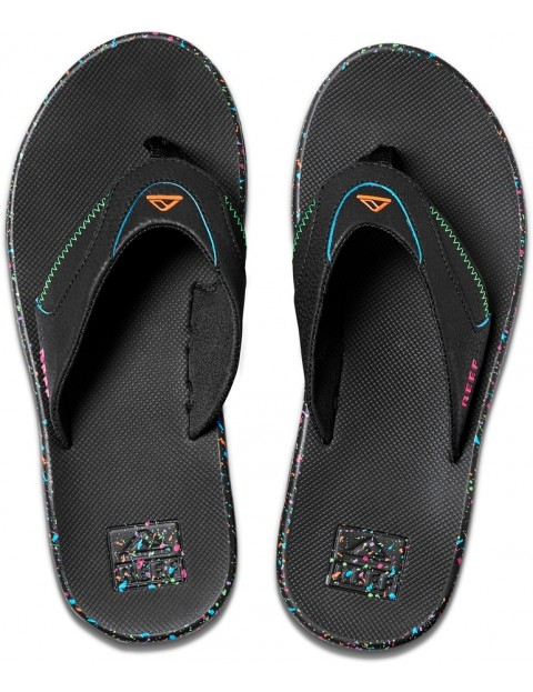 release date various kinds of wide selection of colours and designs Reef Fanning Flip Flops in Blue Splatter